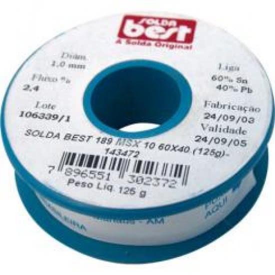 *Rolo Solda Azul 125g 189M10 60x40 Best 10.28.008