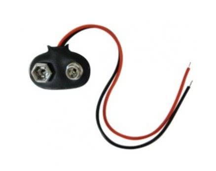 Suporte para Pilha Saida Bateria 9V T Clip 45.01.026