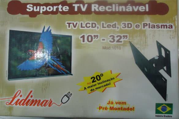Suporte para TV Plasma, LCD e LED Articul Reclinavel Modelo1010   10-32
