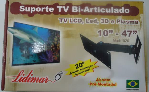 Suporte para TV Plasma, LCD e LED bi-articul Reclinavel  Modelo 1020 10-47