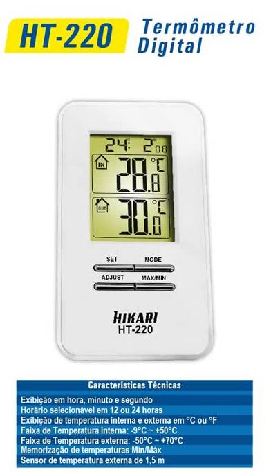 Termometro Digital HT220 Hikari 21N145