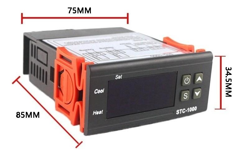 Termostato Digital Stc 1000 Duplo Aquece E Resfria 110-220v 46.009