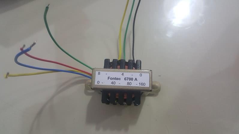 Transformador Linha Audio Ent 0/40/80/160 Sai 0/4/8 Ohms 47.500