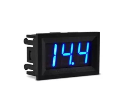 Voltímetro Digital DC 0 - 99,9V Azul Moldura Alimentação 4 a 30V 3 fios  46.052AZ