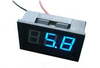 Voltímetro Digital DC 4,5 - 30V Azul Moldura 2 fios 46.051AZ