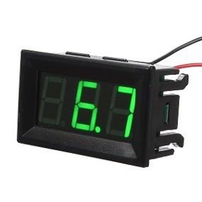 Voltímetro Digital DC 4,5 - 30V Verde Moldura 2 fios 46.051VD