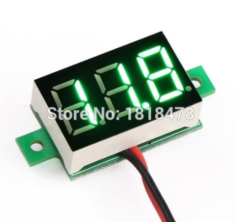 Voltímetro Digital DC Verde - Alimentação 4,5 a 30V 46.068