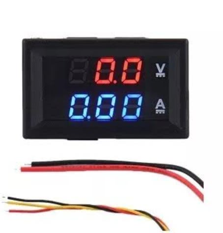 Voltímetro e Amperimetro Digital DC 100V x 10A 46.046