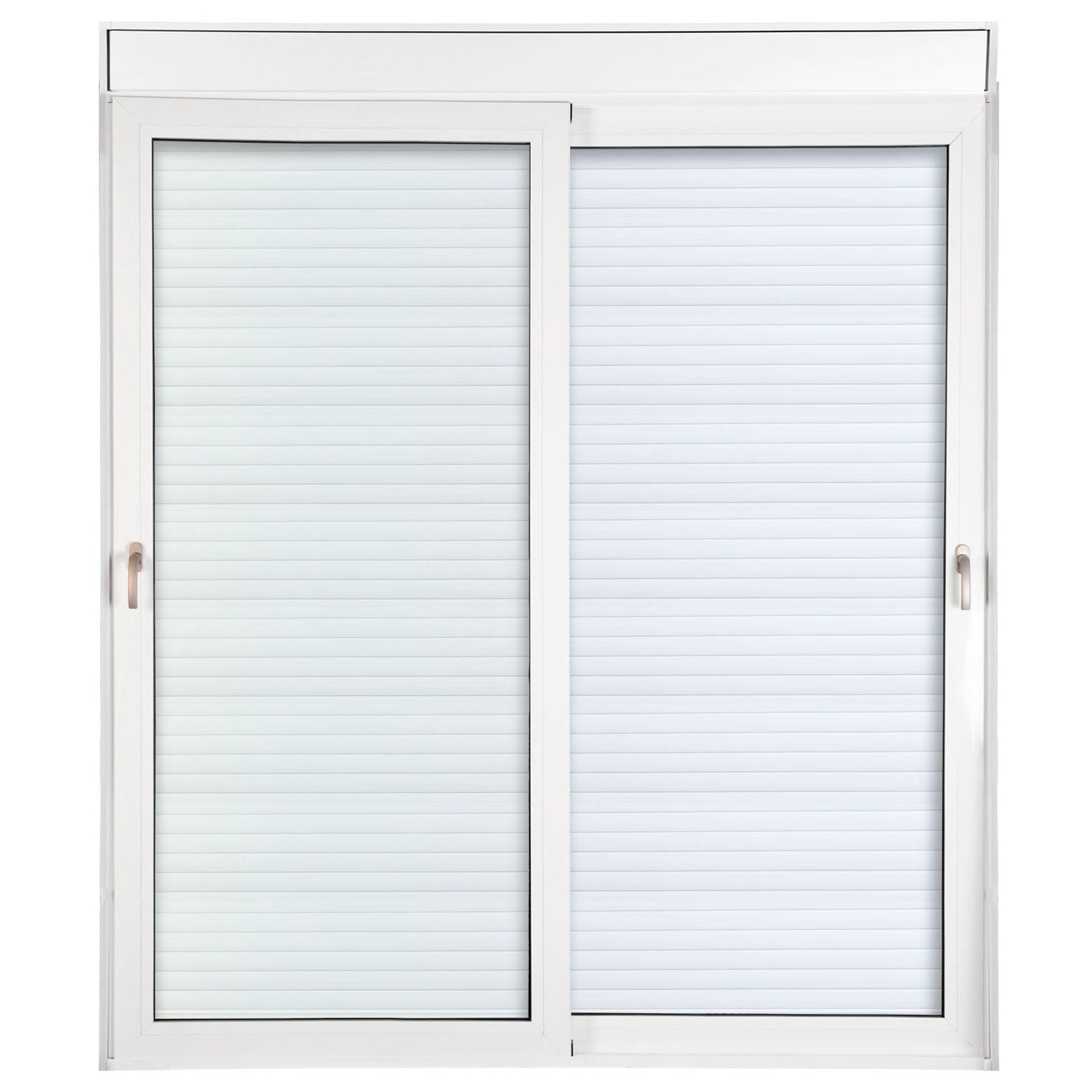 Porta 2 folhas de Correr com Vidro com Sem Travessa e Persiana Automática 110V com Fecho Multiponto - 200x235 - Veneza
