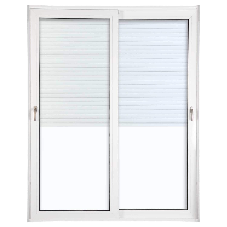 Porta 2 folhas de Correr com Vidro com Sem Travessa e Persiana Automática 220V com Fecho Multiponto - 200x235 - Veneza