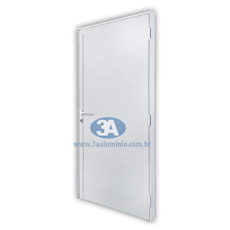 Porta De Abrir Lambri 1 Folha  88x215 (Lado Direito) - Idea