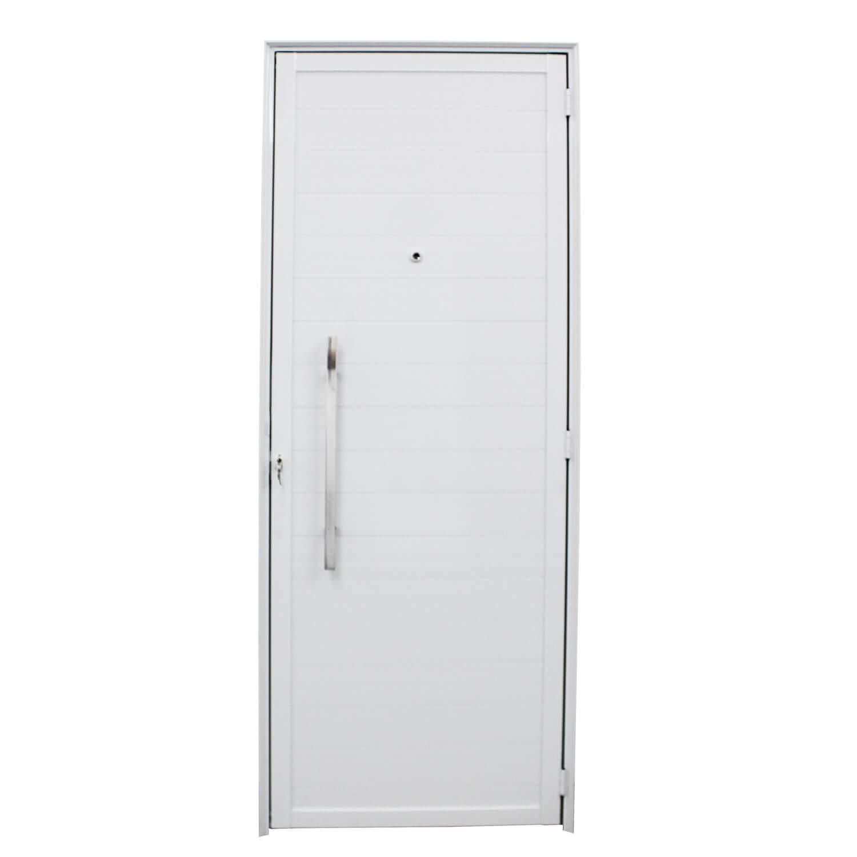 Porta De Abrir Lambri com Puxador Inox 80 x 210 (Lado Direito) – Home