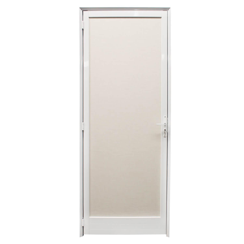 Porta de abrir Milano 1 folha com maçaneta branca ( lado Esquerdo) 70 x 210 - Home