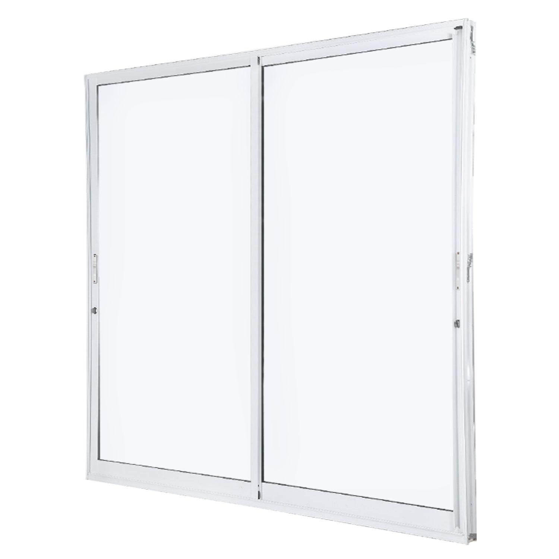 Porta Giardino 2 folhas Sem Travessa Sem Fechadura e Fecho Concha - 2 vidros - 200x215 - Idea