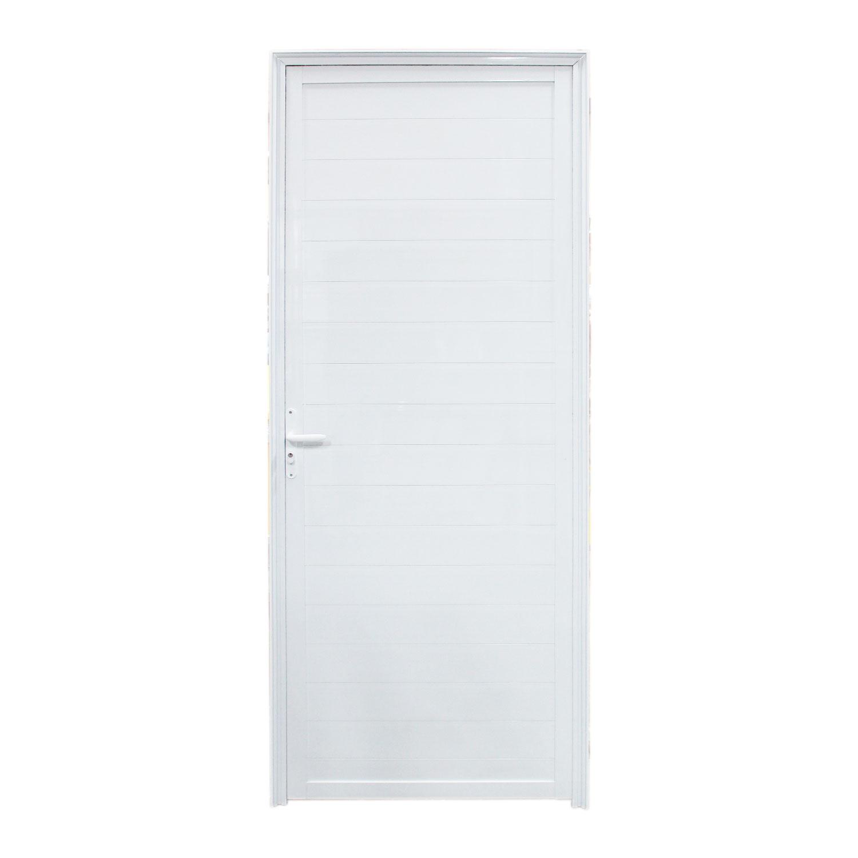 Saldão - Porta De Abrir Lambri com Puxador Inox 80 x 210 (Lado Direito)  Home