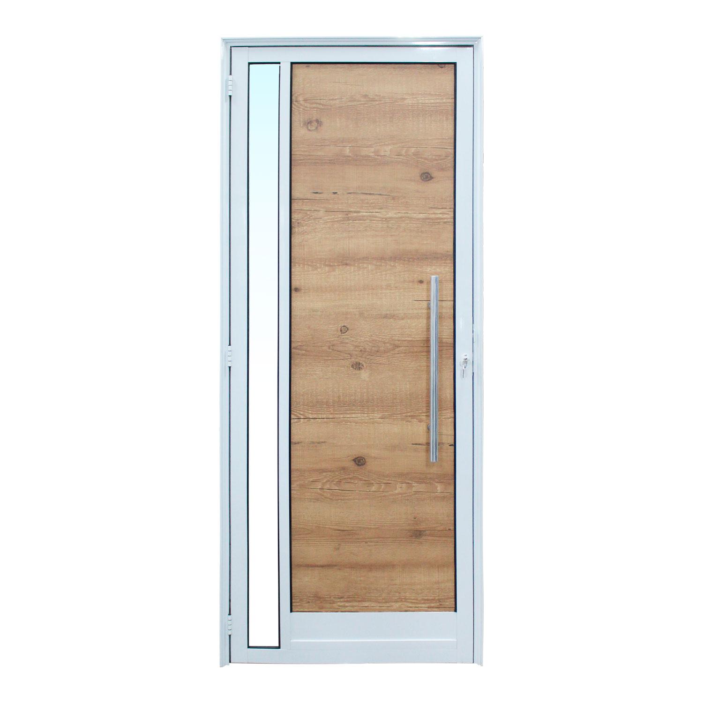 Saldão - Porta de abrir Milano 1 folha com Puxador Padrão Inox e Visor( lado Direito) 80 x 210 - Home