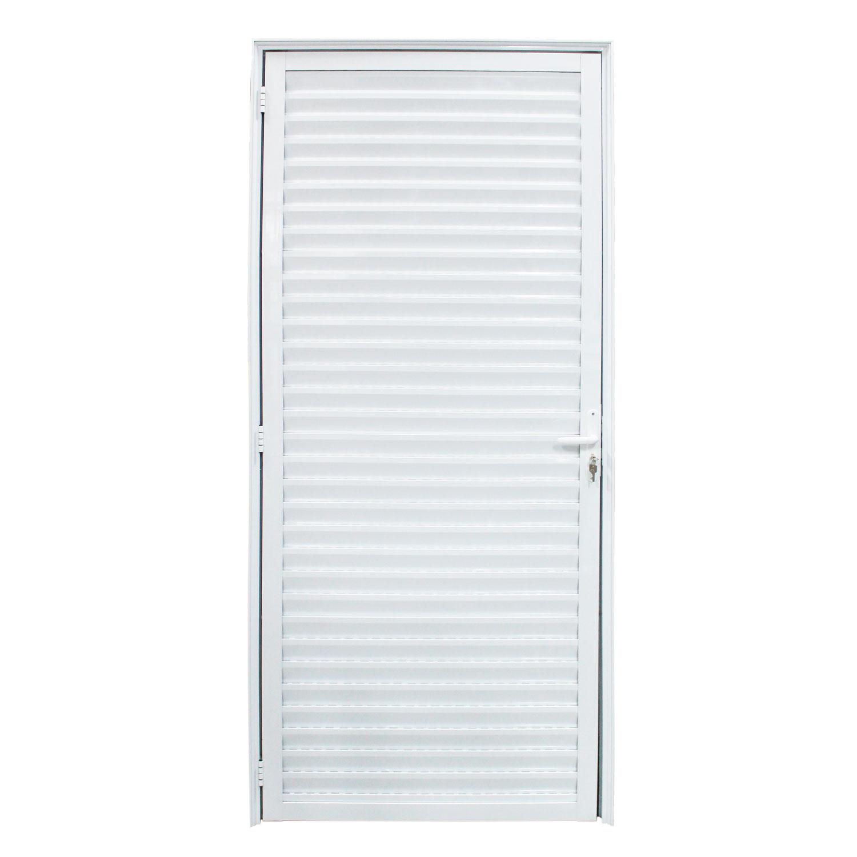 Saldão - Porta De Abrir Palheta Ventilada 90 x 210 (Lado Direito)  Home
