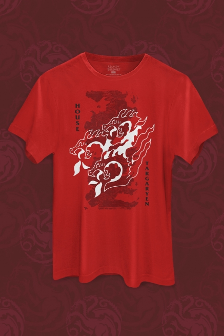 Camiseta Game of Thrones 10 Anos Targaryen of Dragonstone