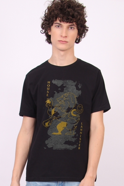 Camiseta Game of Thrones 10 Anos House Lannister