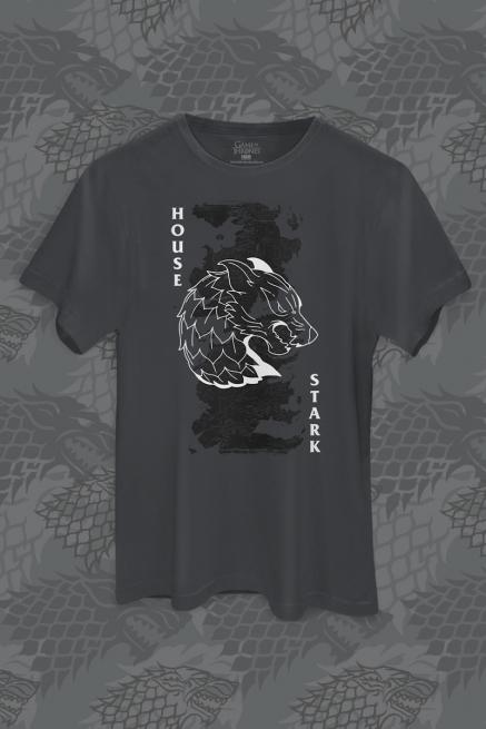 Camiseta Game of Thrones 10 Anos House Stark of Winterfell