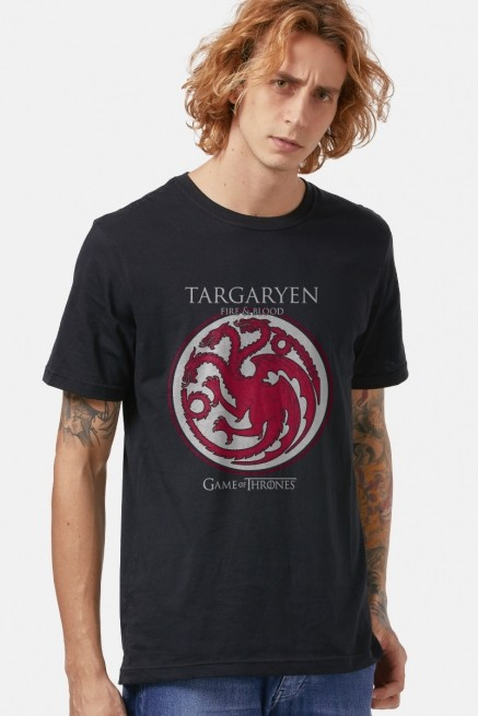 Camiseta Game of Thrones Targaryen Brasão
