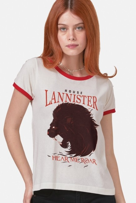 Camiseta Ringer Game of Thrones Hear me Roar