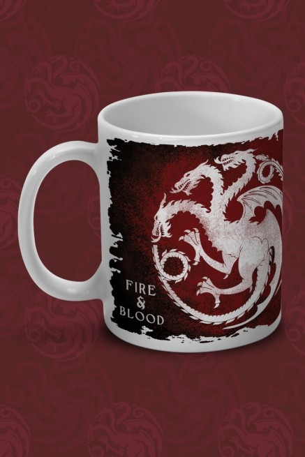 Caneca Game of Thrones Targaryen Brasão