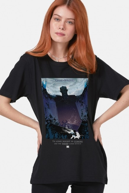 T-shirt Game of Thrones Long Night is Coming