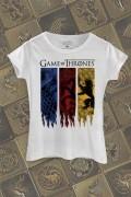 Camiseta Game of Thrones Stark, Targaryen e Lannister