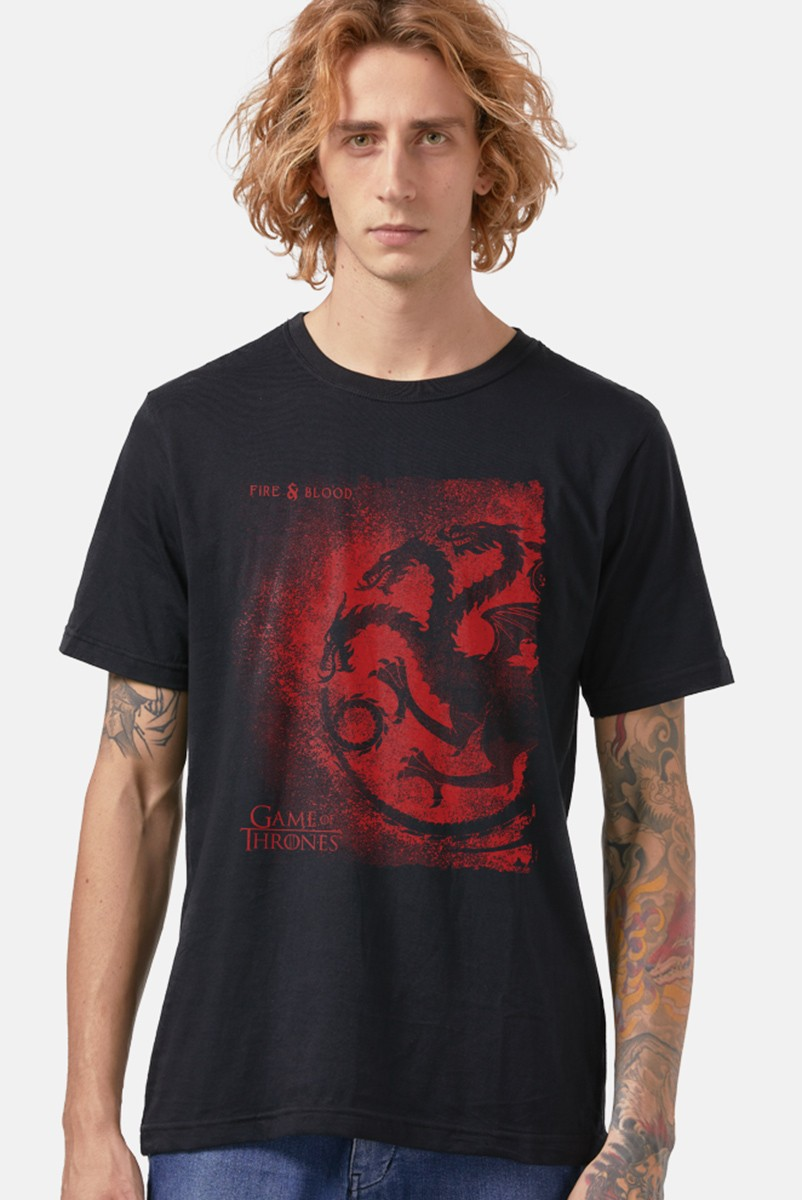Camiseta Game of Thrones Fire & Blood