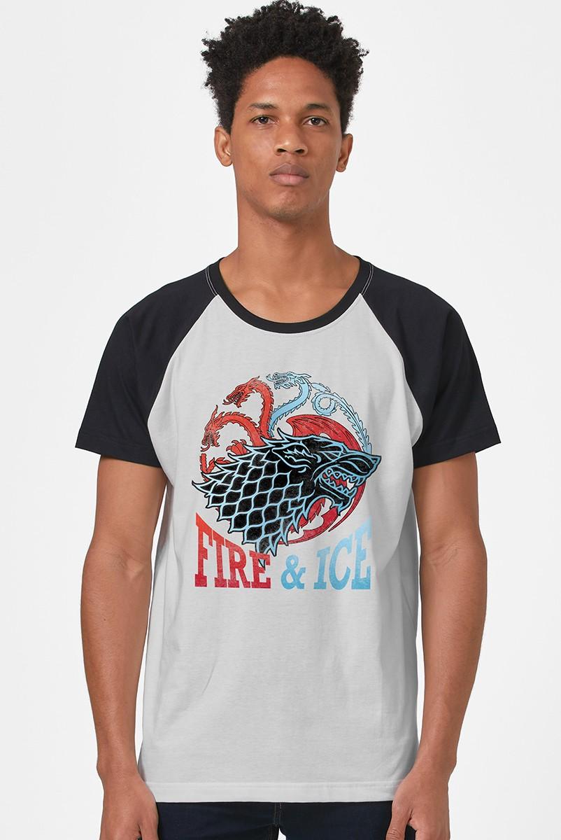 Camiseta Raglan Game of Thrones Fire & Ice