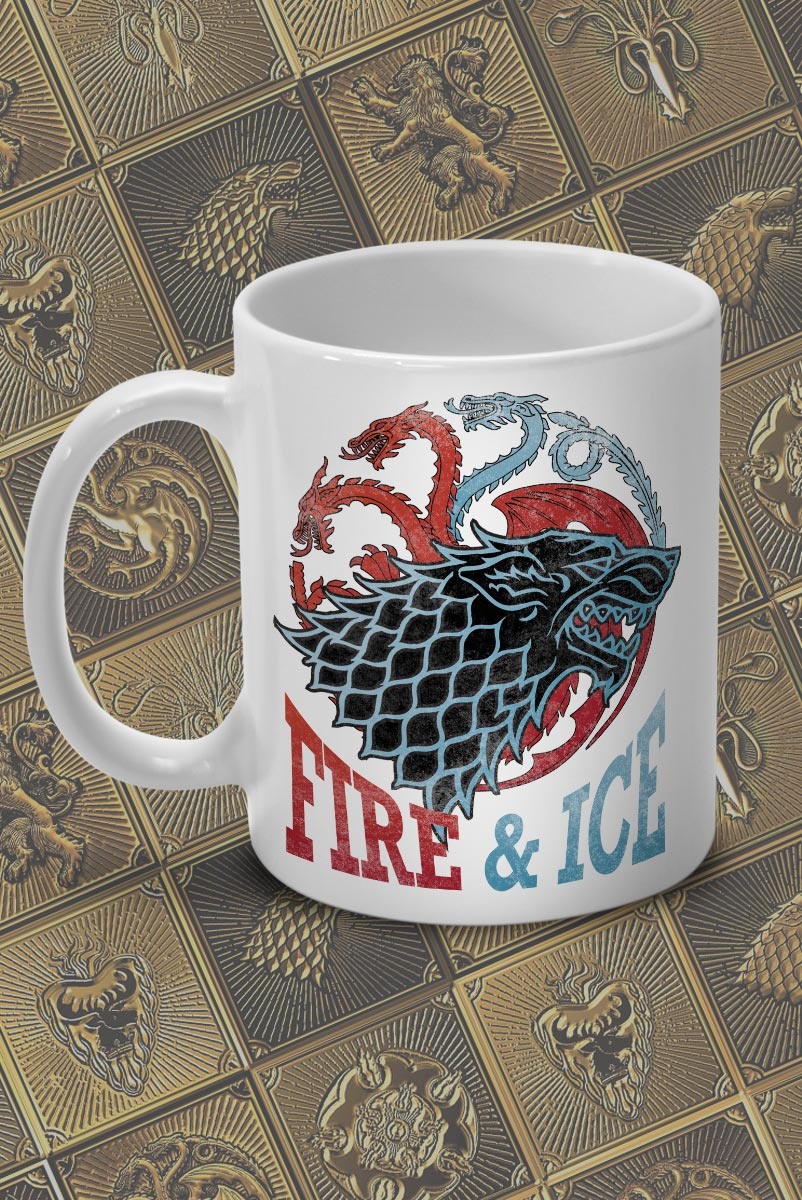 Caneca Game of Thrones Fire & Ice