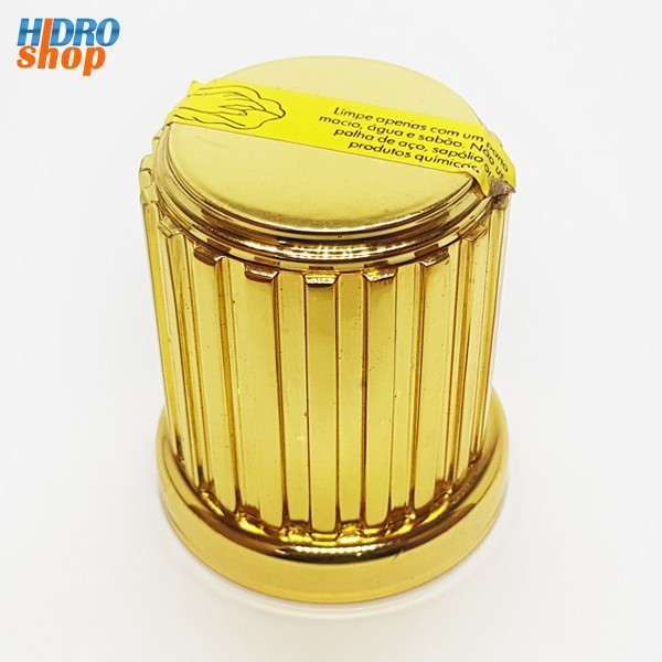 Acabamento Registro Deca Acrópole D80 Dourado 1/2, 3/4 E 1