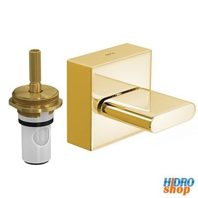 Acabamento polo gold c/ mecanismo 1/2 volta p/ registro pressão deca 4900glpq