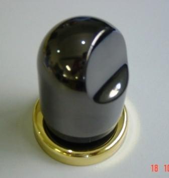 Acabamento Registro Deca Nordica Fume Onix com Dourado 1/2 a 1