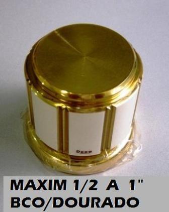 Acabamento Registros Deca Maxim Branco Com Dourado 1/2 a 1