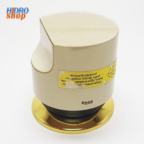 Acabamento Sigma Deca Bege Com Dourado - 4900E65BEDO
