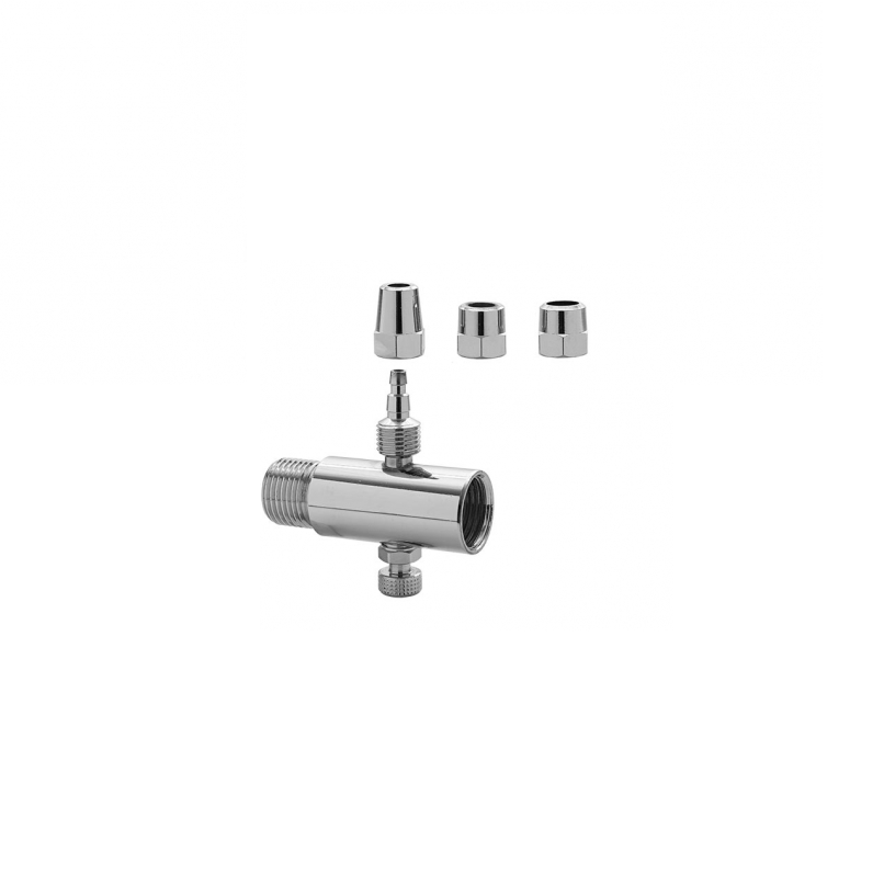 Adaptador Filtro 1/4 E 1/8 Cromado Blukit - 310904