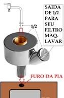 Adaptador Torneira Cozinha Mesa Com Saída Derivação Lateral Para Filtros E Máquina De Lavar - 310102-61