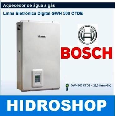 Aquecedor Bosch Gwh500ctde Gas Gn 23 L/min Bivolt - GWH500CTDEGN