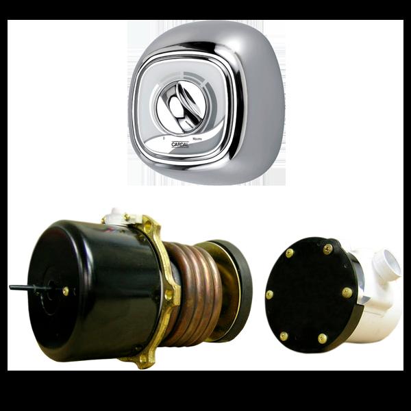 Kit Aquecedor Cardal Central Eletrônico 9000w C/ Acabamento Cromado  - AQ051/2