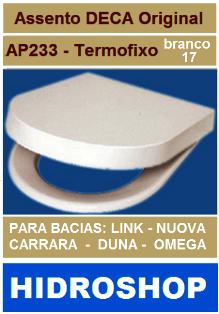 ASSENTO LINK / CARRARA / NUOVA / DUNA /OMEGA Termofixo Branco Gelo AP233 17