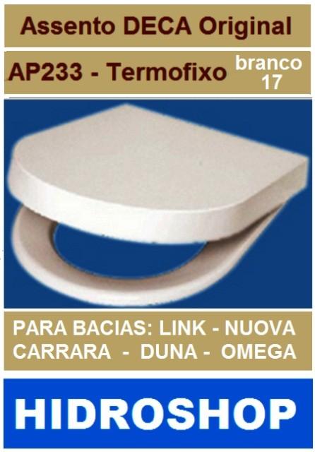 Assento Link Carrara Nuova Duna Omega Termofixo Branco Gelo - AP23317