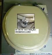 ASSENTO OVAL UNIVERSAL CREME/BISCUIT FERR. CROMADA LUXO