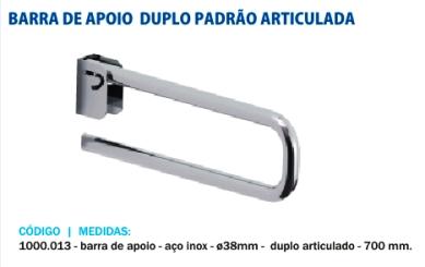 Barra De Apoio Articulável Inox Mostruário - BR01
