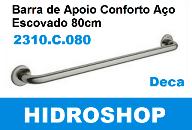BARRA DE APOIO DECA 80 CM AÇO POLIDO 2310C080