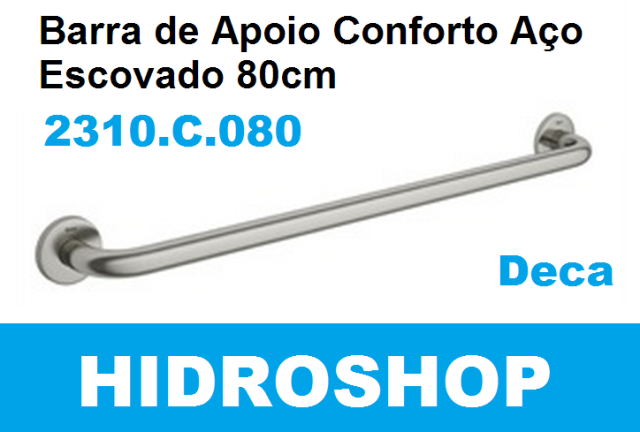Barra de Apoio Deca 80 Cm Aço Polido - 2310C080