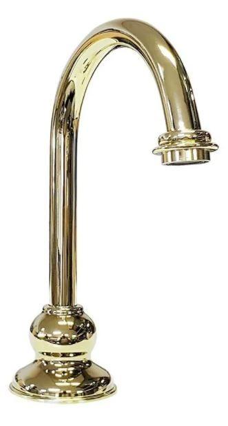Bica Alta Misturador Deca Lavatório Belle Époque Tiffany Dourada  4908273