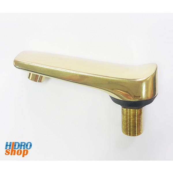 Bica Baixa Dourada Deca Maxim Misturador Lavatório - 4910053
