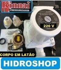 bomba PRESSURIZADOR DE FLUXO RINNAI 260 W COD RBHLBFI3FEL2 corpo de latão